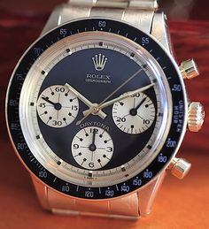 Rolex Watches Collection : Rolex Daytona Paul Newman 6264 - Watches Topia - Watches: Best Lists, Trends & the Latest Styles Rolex Watches For Men, Vintage Watches For Men, Luxury Watches For Men, Cool Watches, Unique Watches, Men's Watches, Rolex Daytona Paul Newman, Rolex Paul Newman, Rolex Vintage