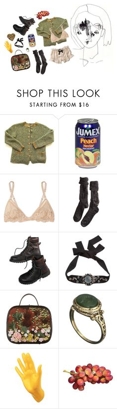 """""""discount apple juice"""" by oldmacaroni ❤ liked on Polyvore featuring Anthropologie, La Perla, Polder, American Eagle Outfitters, Lanvin, Chanel, Alexis Bittar and Thelermont Hupton"""