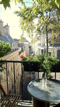 sitting in Paris