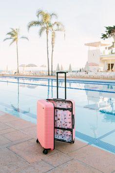 pink gray malin suitcase