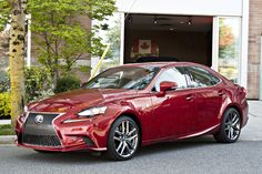 Red Lexus IS 350 AWD
