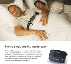 You can use this device to be tested for sleep apnea at home, without going to a sleep testing center