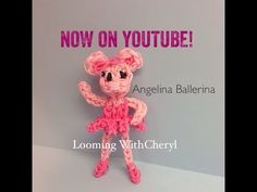 Rainbow Loom Angelina Ballerina Doll - Looming WithCheryl. Tutorial is Now on YouTube! charms / figures / gomitas / gomas. Please Subscribe ❤️❤ m.youtube.com/user/LoomingWithCheryl