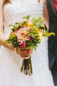 The bride's beautiful wedding bouquet. Photography by Cassie Lopez. See more... @intimateweddings.com #realweddings #bridalbouquet #intimateweddings.