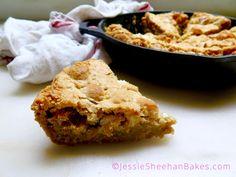 slice o' brown butter rice krispie treat skillet cookie