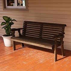 Amish Heavy Duty 800 Lb Roll Back Pressure Treated Garden Bench With Cupholders (5 Foot, Dark Walnut Stain) CAF http://www.amazon.com/dp/B017WH32N0/ref=cm_sw_r_pi_dp_0wJ5wb0NKNVB9