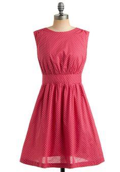 Too Much Fun Dress in Raspberry ModCloth.com