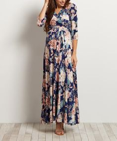 This PinkBlush Floral Maternity Maxi Dress is perfect! #zulilyfinds