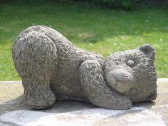 Playful Teddy Bear Garden Statue Teddy Bear, Bear Statue, Garden Statues,  Play,