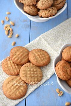 Glutenfreie Erdnussbutter- Kekse