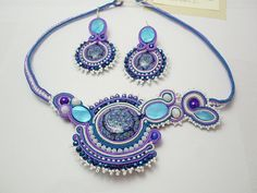OOAK soutache for summer Santorini greek style by mysweetcrochet, $135.00