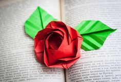 Оригами. Origami. Роза оригами Rose origami 折り紙, 종이 접기 ***