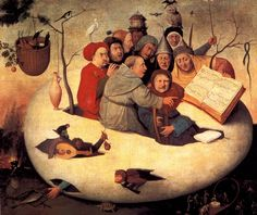 The Concert in the Egg - Hieronymus Bosch Artist: Hieronymus Bosch Start Date: 1475 Completion Style: Northern Renaissance Genre: religious painting Technique: oil Material: panel Hieronymus Bosch, Jan Van Eyck, Renaissance Kunst, Renaissance Music, Arte Tribal, Dutch Painters, Chef D Oeuvre, Medieval Art, Medieval Music