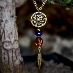 NECKLACE - Boho Dream Catcher Bohemian & earthy dream catcher pendant with…