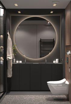 Modern Bathroom Design Trends For Your Dream House 38 Contemporary Bathroom Designs, Contemporary Decor, Contemporary Architecture, Modern Design, Contemporary Toilets, Contemporary Chandelier, Contemporary Building, Contemporary Apartment, Contemporary Wallpaper