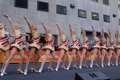 Rockettes perform at Rockefeller Plaza on the Today Show. New York Christmas, Radio City Music Hall, Go To New York, Morning Show, Today Show, Showgirls, Nice Dresses, To My Daughter, Georgia