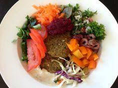 Keeping it Real: Cauliflower and Broccoli 'Falafel' with Tahini Sau...