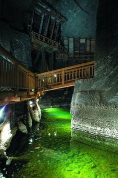 Holiday in one of Poland's underground salt mines, 1,000 feet below ground