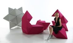 Breaking the tradition of coming up with bulky home furniture, the team of Australian designers Schamburg + Alvisse has come up with playful multi-functional furniture for your home. Sofa, bed, chair or simple sculpture star, mold it the way you want