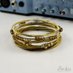 Recycled Music Jewelry from guitar strings