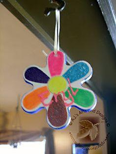 Daisy Gift Tag Ornament using PLAID® Paints