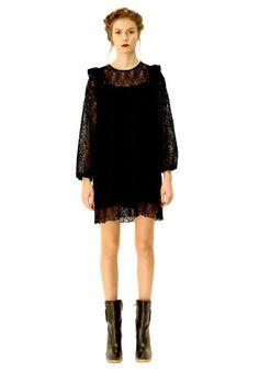 Freija black dress. Shop: http://shop.ivanahelsinki.com/collections/moomin-by-ivana-helsinki/products/freija