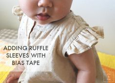 How to Add Ruffle Sleeves with Bias Tape {tutorial}