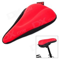 Cycling Thick 3D Silicone Bike Seat Cushion Cover - Red Price: $8.99
