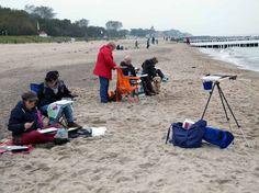 Malen am Ostseestrand | Wir malen Wellen, Buhnen und Strand (c) Frank Koebsch (1)