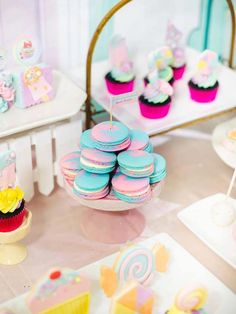 Jillian and Jilleen's Sweet Shoppe Themed Party – Birthday Birthday Party Snacks, Ice Cream Candy, Wonderland Party, Party Themes, Party Ideas, Candyland, Rice Krispies, Mini Cupcakes, Dessert Table