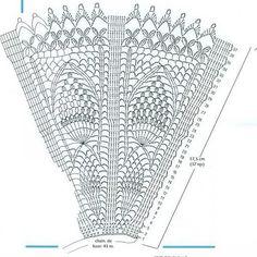 LA CHUZMA: A PEDIDO MÁS ABANICOS CROCHET¡¡¡ APROVECHEN PORQUE HAY ... Crochet Cape Pattern, Crochet Applique Patterns Free, Crochet Motifs, Crochet Diagram, Crochet Chart, Thread Crochet, Filet Crochet, Crochet Doilies, Crochet Stitches