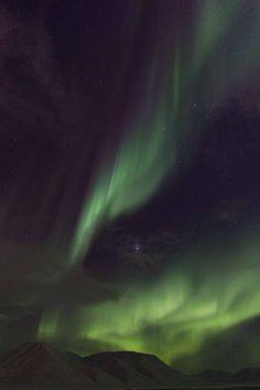 Aurora Borealis  Taken by Sophie Cordon on January 2, 2014 @ Longyearbyen, Svalbard (laststop before the North Pole)
