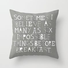 Impossible things... Throw Pillow $20.00 - http://society6.com/madiillustration/Impossible-things_Pillow