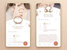 Jewelry jewellery e commerce app concept by tubik Web und App Design Mobile Ui Design, App Ui Design, Dashboard Design, Application Mobile, Application Design, Mobile Applications, Design Thinking, Ux Design Principles, Wireframe Mobile