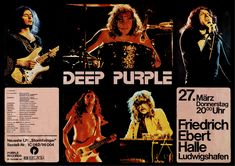 Deep Purple Mark III. Concert poster, 1975