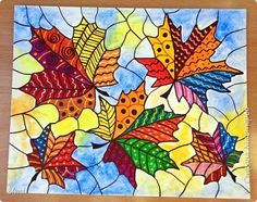 art ed central loves Fall Art Projects, Classroom Art Projects, School Art Projects, Art Classroom, Fall Arts And Crafts, Autumn Crafts, Autumn Art, 4th Grade Art, Art Drawings For Kids