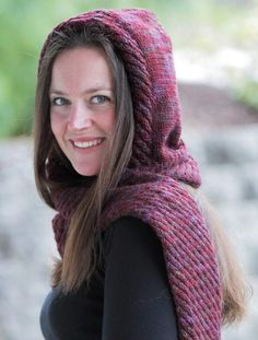 Looking for your next project? You're going to love Hooded Scarves and Cowls by designer lisaellisdesign.