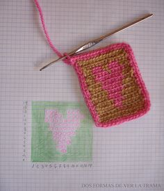 .Link to video tutorials: Learn tapestry crochet - http://www.tapestrycrochet.com/
