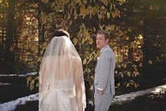 Katelynn and Matthew's fairytale-style woodland wedding at Big Trees National Park Wedding First Look, Big Tree, Woodland Wedding, Confetti, Real Weddings, Fairy Tales, National Parks, Bride, Wedding Dresses