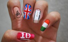 Shared by Rovina Elisabeth. Find images and videos about fashion, cool and one direction on We Heart It - the app to get lost in what you love. Estilo One Direction, One Direction Nails, One Direction Imagines, Harry Styles, Great Nails, Cute Nails, Zayn Malik, Niall Horan, Band Nails