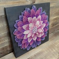 Gorgeous multilayer flowe string art