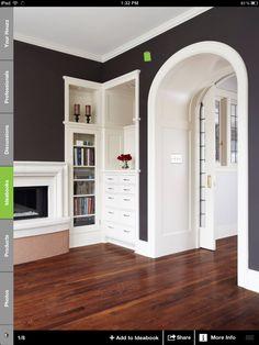 Built-ins & arched doorway