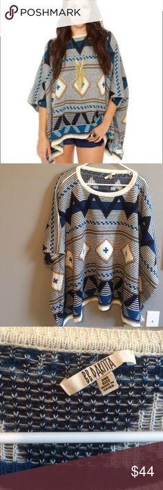 BB Dakota Poncho Never worn, label came half off when taking tag off. Super soft oversized BB Dakota Sweaters Shrugs & Ponchos