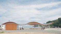 Kazuyo Sejima + Ryue Nishizawa / SANAA: Home-for-All in Tsukihama, Miyatojima. Image courtesy of Home-for-All. Click above to see larger image. Community Housing, New Community, Contemporary Architecture, Architecture Design, Japanese Architecture, Modern Contemporary, Pavillion Design, Ryue Nishizawa, Japan Earthquake