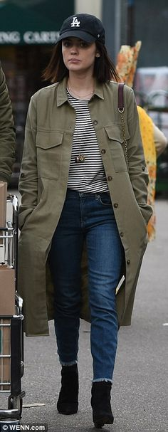 c608be4180fbd Lucy Hale and boyfriend Anthony Kalabretta don matching olive jackets