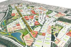 Minsk Forest City A Regeneration of the Airport – Sasaki Associates, I Site Development Plan, Tourism Development, Urban Design Diagram, Urban Design Plan, Masterplan Architecture, Urban Architecture, Urban Landscape, Landscape Design, Site Plan Rendering
