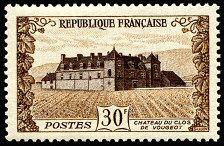 Château du Clos de Vougeot - Timbre de 1951