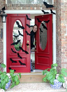 Hi Sugarplum | Batty Front Porch for Halloween