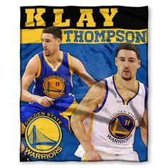 Golden State Warriors NBA Klay Thompson Silk Touch Throw (50in x 60in)