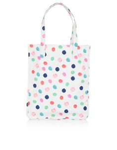 Beschichtete Shopper-Tasche mit Punktmuster   Bunt   Accessorize 19,90 €